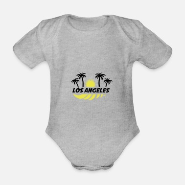 America los Angeles - Organic Short-Sleeved Baby Bodysuit