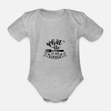 Dinner FORK - DINNER - Organic Short-Sleeved Baby Bodysuit