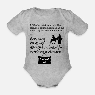 Christmas Booking for Joseph and Mary - Organic Short-Sleeved Baby Bodysuit