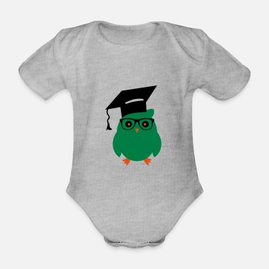 Owls nerd owl3 - Organic Short-Sleeved Baby Bodysuit