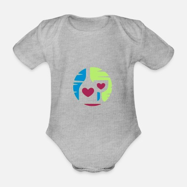 Romantic Romantic - Organic Short-Sleeved Baby Bodysuit