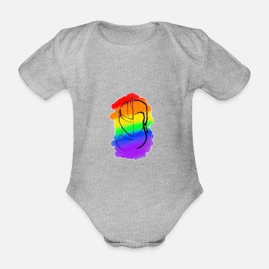 Historical Fencing Rainbow - Organic Short-Sleeved Baby Bodysuit