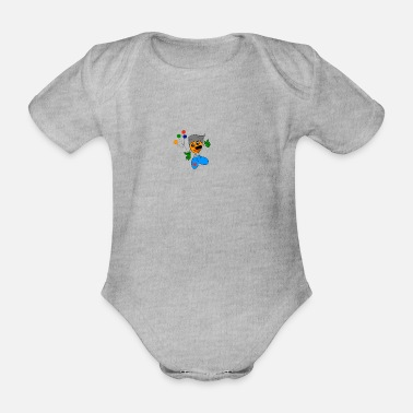 Comic comic - Organic Short-Sleeved Baby Bodysuit