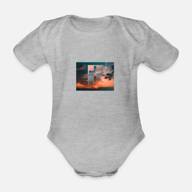 Heaven HEAVEN - Organic Short-Sleeved Baby Bodysuit