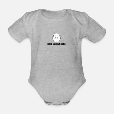 Country Life Cows make trouble - country life - in the country - Organic Short-Sleeved Baby Bodysuit