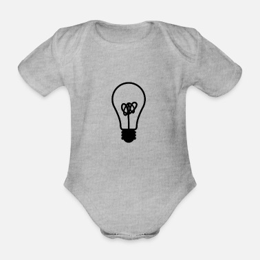 Light light - Organic Short-Sleeved Baby Bodysuit