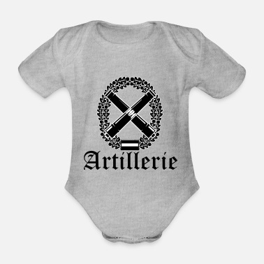 Artillery Artillery with text black - Organic Short-Sleeved Baby Bodysuit