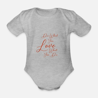Love You Love you - Organic Short-Sleeved Baby Bodysuit