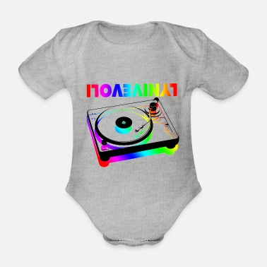 Deejay I LOVE VINYL 2 - Organic Short-sleeved Baby Bodysuit