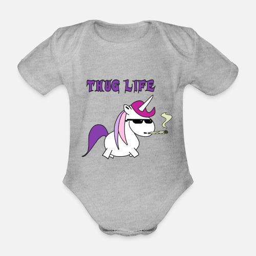 Ghetto Einhorn Baby Bio Kurzarmbody Spreadshirt