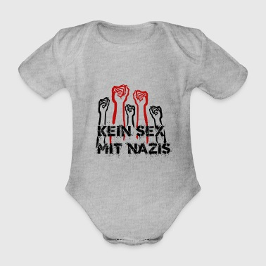 No sex with Nazis - Organic Short-sleeved Baby Bodysuit