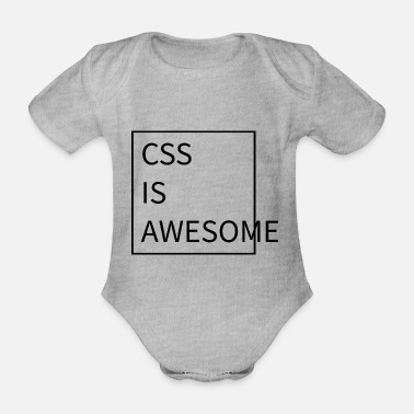 Css CSS Is Awesome - Organic Short-sleeved Baby Bodysuit