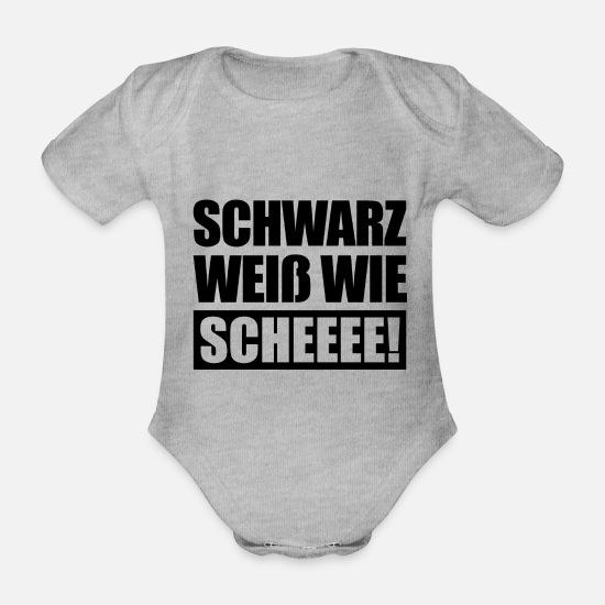 88d2392ff9 Eintracht Babykleidung - Schwarz Weiß wie Scheeee Frankfurt Hessen Ebbelwoi  - Baby Bio Kurzarmbody Grau meliert