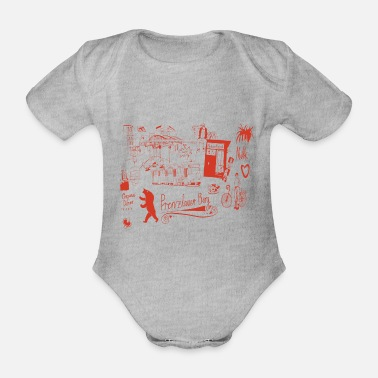 Urban Untitled 1235 red - Organic Short-sleeved Baby Bodysuit
