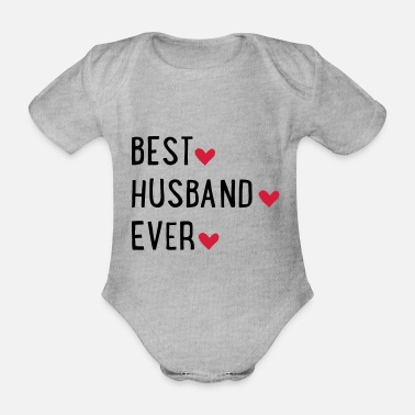 Husband husband - Organic Short-Sleeved Baby Bodysuit