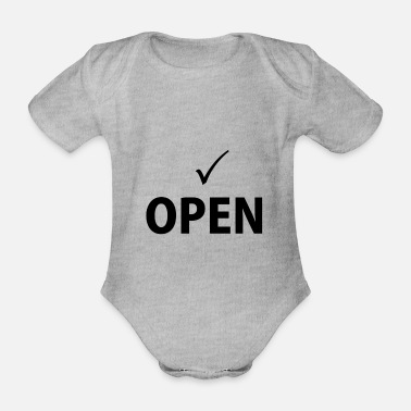 Open OPEN - Organic Short-Sleeved Baby Bodysuit