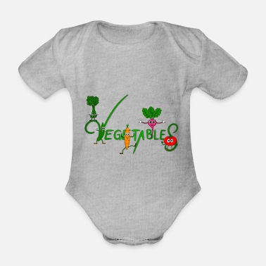 Vegetable Vegetables - vegetables - Organic Short-Sleeved Baby Bodysuit