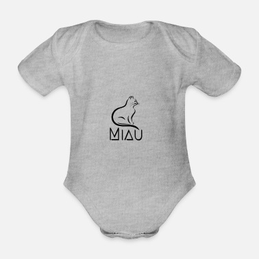 Cat meowing very elegant, calm, sporty. - Organic Short-Sleeved Baby Bodysuit