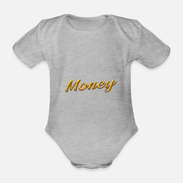 Gold gold money gold - Organic Short-Sleeved Baby Bodysuit