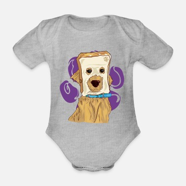 Pandemic MEME breadhead - Organic Short-Sleeved Baby Bodysuit