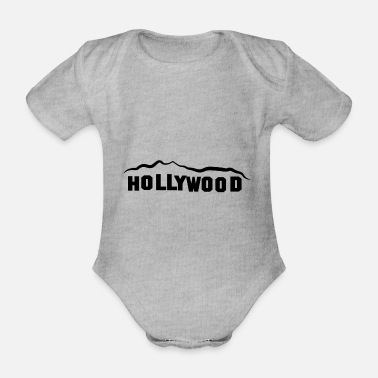 Hollywood HOLLYWOOD - Organic Short-Sleeved Baby Bodysuit