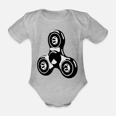 Hand spinner - Organic Short-Sleeved Baby Bodysuit