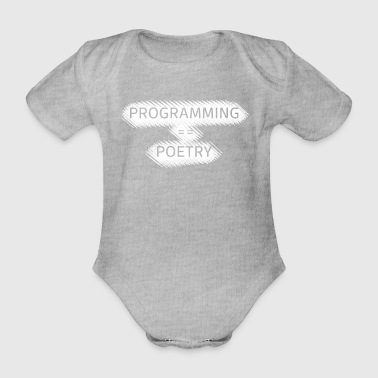 Programming poems - Organic Short-sleeved Baby Bodysuit