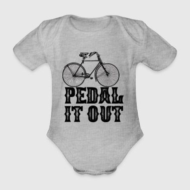 Pedal pedal it out - Organic Short-sleeved Baby Bodysuit