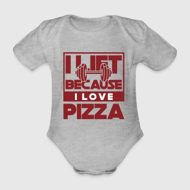 Funny gym shirt - Organic Short-sleeved Baby Bodysuit
