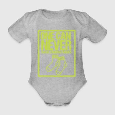 One can never have enough socks - Organic Short-sleeved Baby Bodysuit