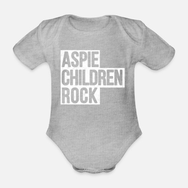 Aspergers Aspie Children's Rock Aspergers Shirt - Organic Short-sleeved Baby Bodysuit