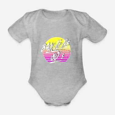 Back To The 80's - Organic Short-Sleeved Baby Bodysuit
