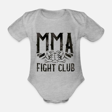 Fist Fight mma fight fist - Organic Short-Sleeved Baby Bodysuit