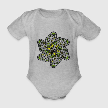 Om Symbol - Aum - Yoga - Meditation - Energy - Organic Short-sleeved Baby Bodysuit
