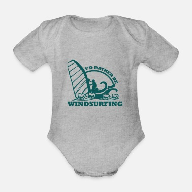 Windsurfing Sea Windsurfer Windsurfing Windsurfing Sport - Organic Short-sleeved Baby Bodysuit