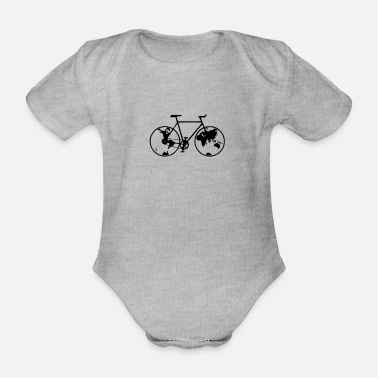 Biking Planet bike, bike, bike, BMX, mountain bike - Organic Short-Sleeved Baby Bodysuit
