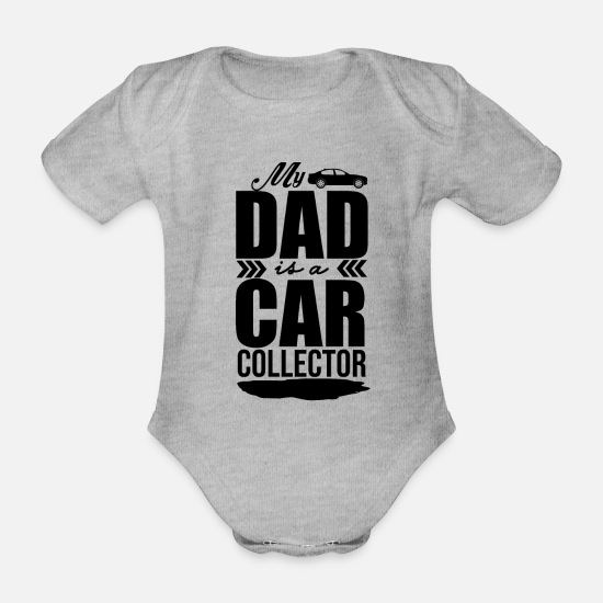 Collection Baby Clothes - Collect cars - Organic Short-Sleeved Baby Bodysuit heather grey