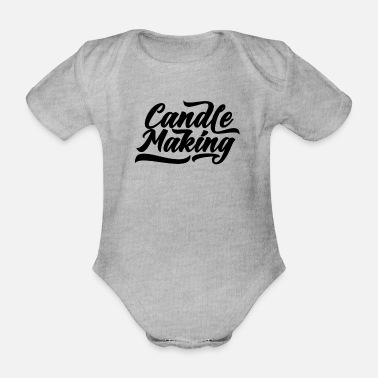 Waxe Wax Candle Candle Maker Candle Wax Candle Wax - Organic Short-Sleeved Baby Bodysuit