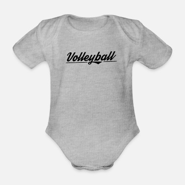 Present Volleyball team Vollyball player volleyball - Organic Short-Sleeved Baby Bodysuit
