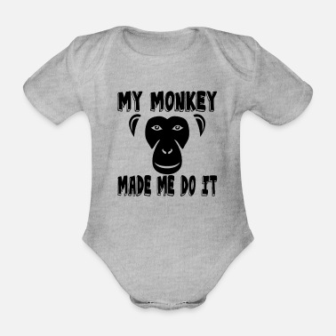 Apelike Funny monkey sayings gift - Organic Short-Sleeved Baby Bodysuit
