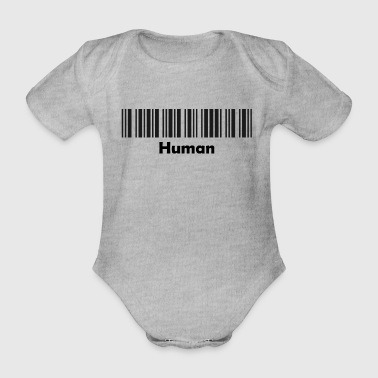 Made In Germany Human schwarz - Baby Bio-Kurzarm-Body