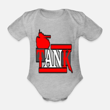 Artillery Panzer Panzerfahrer tracked vehicle - Organic Short-Sleeved Baby Bodysuit