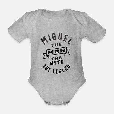 Miguel Ángel Miguel Personalized Name Birthday Gift - Organic Short-Sleeved Baby Bodysuit