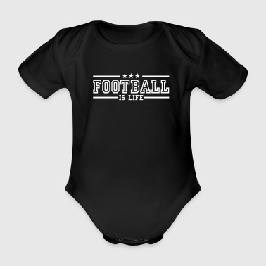 football is life deluxe - Økologisk kortermet baby-body