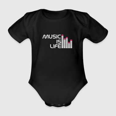 music is life equalizer r DE - Vauvan lyhythihainen luomu-body