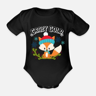 Winter Crazy Cold Fox Snow Gift Winter Xmas idee - Rompertje met korte mouwen
