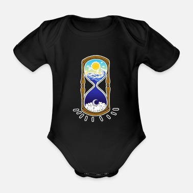 Times TIME - time - Organic Short-Sleeved Baby Bodysuit
