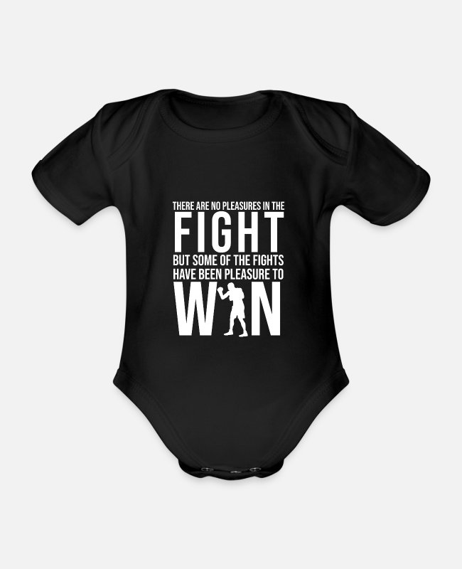 Mma Baby Bodysuits - Kickbox MMA was boxing training - Organic Short-Sleeved Baby Bodysuit black