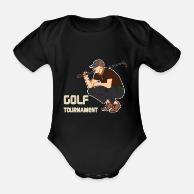 Tournament Golf tournament Tournament player - Organic Short-Sleeved Baby Bodysuit