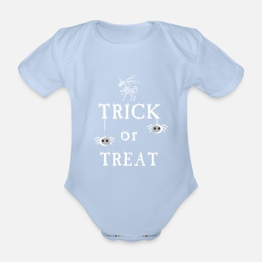 Trick Or Treat Trick or Treat - trick or treat - Organic Short-Sleeved Baby Bodysuit